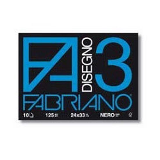 Immagine di Album Fabriano F3 nero 24X33 10fg 125gr