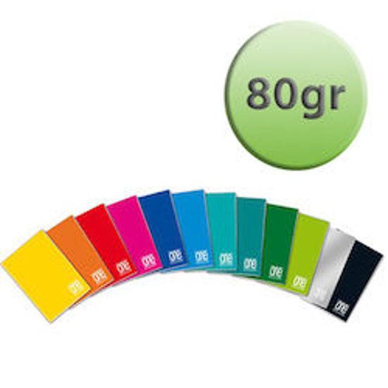 Immagine di Quaderno A4 One Color righe 3a elem. con margine 80gr