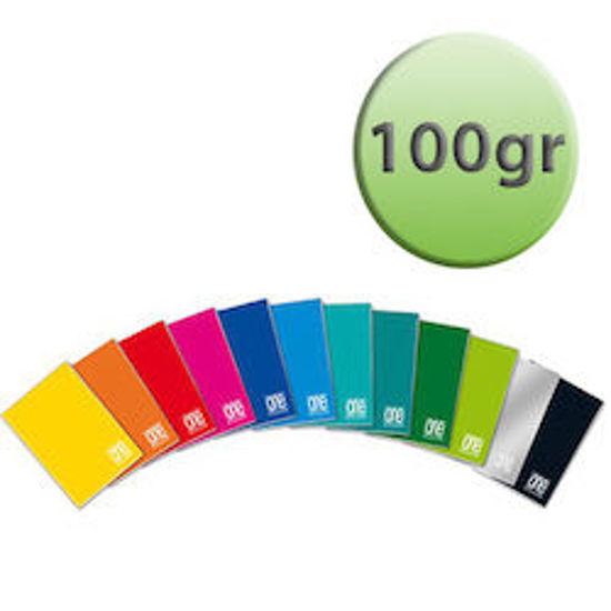 Immagine di Quaderno A4 One Color quadretti 4mm con margine 100gr