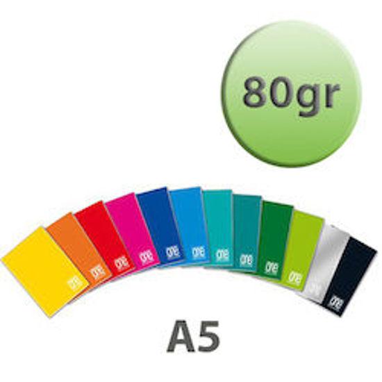 Immagine di Quaderno A5 One Color quadretti 5mm senza margine 80gr