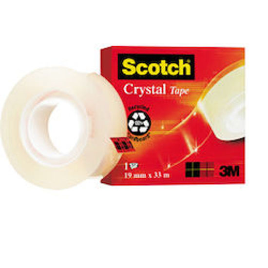 Immagine di Scotch Crystal Tape 600 19mmX33m